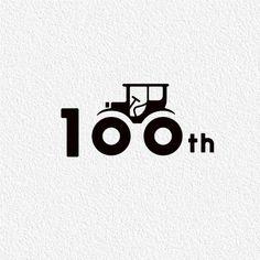 Tractor 100 hidden in wheels logo