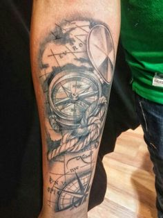 Compass and world map back of calf tattoo tattoo pinterest cover un por grek desde puebla mxico en tinta electrika gumiabroncs Choice Image