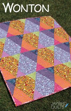 Wonton quilt pattern from Jaybird Quilts - baby, lap, twin on Etsy, $10.00