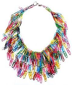 Naszyjnik ze spinaczy do papieru / Paper clip necklace