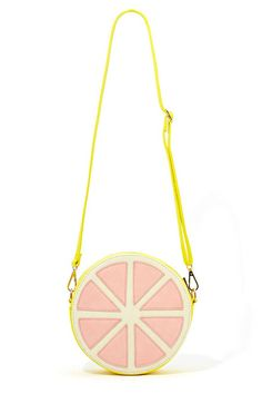 b4bf6a89b664 Grapefruit Shaped - The Nasty Gal s grapefruit shaped Sweet Grapefruit bag  is bright and juicy for Spring The sweet faux leather pink and yellow  grapefruit.