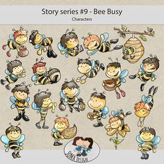 SoMa Design: Bee Busy - Characters - Story Series #9