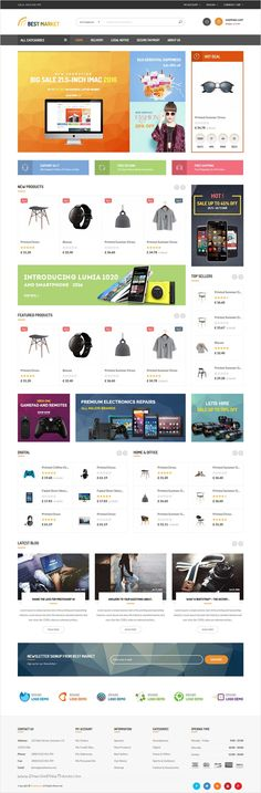 Bestmarketz is a Multipurpose 6 in 1 #Prestashop theme, #webdev #electronics #shop which is a modern, attractive, easy to use and fully responsive for amazing eCommerce website download now➩ https://themeforest.net/item/bestmarket-multipurpose-mega-shop-responsive-prestashop-theme/18325710?ref=Datasata