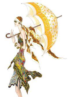 Pañuelos / Scarves Illustration made for LOEWE, 1995
