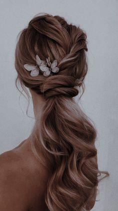 Ponytail Hairstyles, Bride Hairstyles, Cute Hairstyles, Romantic Hairstyles, Aesthetic Women, Aesthetic Hair, Hair Inspo, Hair Inspiration, Hair Balm