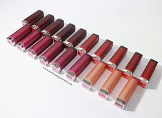 [REVIEW] MAYBELLINE THE POWDER MATTES LIPSTICKS SWATCHES