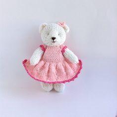 A personal favourite from my Etsy shop https://www.etsy.com/listing/523981261/hand-knitted-stuffed-soft-toy-teddy-bear