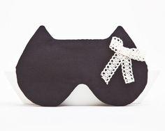 Eye Masks – Sleep Mask Cat, Schlafmaske, Black, schwarz, Noir – a unique product by Julia-Wine on DaWanda