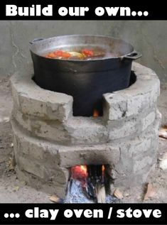 DIY Noflay Clay Brick Wood Stove - low cost, convenient & easy to build. - DIY Noflay Clay Brick Wood Stove - low cost, convenient & easy to build. Welcome to Resource Efficient Agricultural Production - REAP - Canada , Welcome to Useful resource Environm Outdoor Kocher, Outdoor Stove, Brick And Wood, Wood Wood, Rocket Stoves, Diy Rocket Stove, Outdoor Kitchen Design, Pergola Patio, Modern Pergola