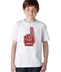 Jesus Cristo Numero 1 Hincha Fan Camiseta Cristiana Kids Camisas Cristianas ecc0c0c2c8348