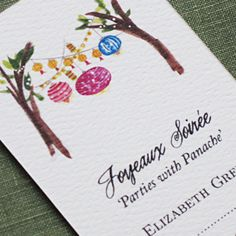 Personalized business card   with Party Lights by nancynikkodesign, $26.50