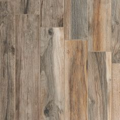 Another wood porcelain tile. Lovely mix of gray and brown. Soft Ash Wood Plank Porcelain Tile - 6 x 40 - 100105923 Wood Look Tile Floor, Wood Tile Floors, Wood Planks, Bathroom Flooring, Kitchen Flooring, Hardwood Floors, Laminate Flooring, Ash Wood Floor, Ash Flooring