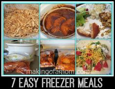 Awesome round up of 7 easy freezer meals that are also slow cooker meals!