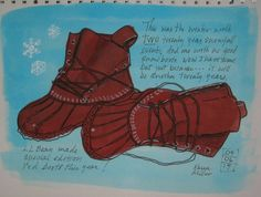 #LLBean Bean Boot art via Facebook fan Karen Miller.