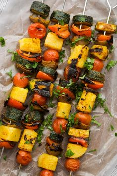 Curried Vegetable Polenta Kabobs