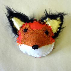 Charming fox textile brooch by Nameless Wonders at Folksy.com