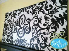 monogram canvas headboard