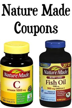 Nature Made Coupons: $2.00 off 2, $5.00 off $25 purchase + more!