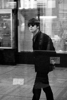 John Lennon, Paris, 1964 -Photo by George Harrson