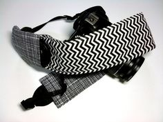 Dslr Camera Strap Slipcover with Lens Cap Pocket  by KallieLilyS, $18.00