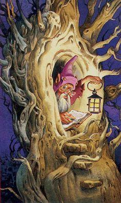 The Hermit - Fairy Tarot (Antonio Lupatelli).