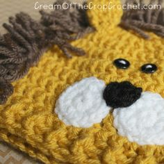 Newborn Crochet Patterns Cream Of The Crop Crochet ~ Preemie/Newborn Lion Hats {Free Crochet Pattern} Preemie Crochet, Newborn Crochet Patterns, Crochet Lion, Crochet Kids Hats, Hat Crochet, Free Crochet, Graph Crochet, Crochet Girls, Hat Patterns
