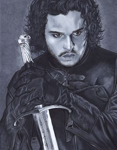Kit Harington as Jon Snow from Game of Thrones. #kitharington #jonsnow #gameofthrones