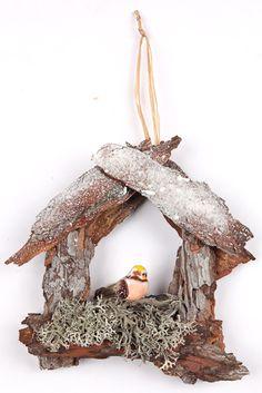 decorazioni natalizie con materiali naturali e  di recupero