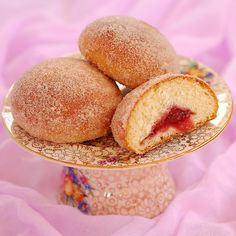 Baked jam doughnuts