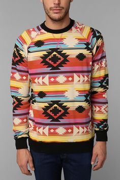 Deter Geo Sweatshirt  #urbanoutfitters. And I need this. Yes I know it's technically a guys sweater.
