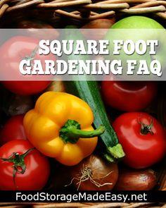 Square Foot Gardening FAQ - Part One
