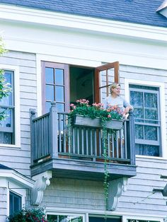 Add a Balcony: A balcony is a nice addition to almost any home, as long as it's fashioned to blend seamlessly into the existing facade. Even a small balcony can provide enough room for a moonlit nightcap. {would love to do this off my master bedroom}