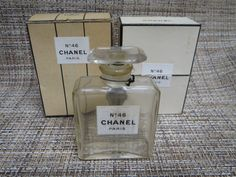 Chanel No.46 bottle and packaging (ca. 1946)