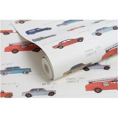 Be You papierbehang Auto's multicolor