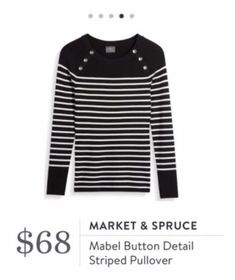 Mabel Button Detail Striped Pullover Stitch Fix. Maybe in a different color?