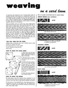 Weaving on a Card Loom - Weaving Digital Archive Item - Handweaving.net Hand Weaving and Draft Archive