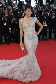 The absolute best of Cannes red carpet fashion: Eva Longoria in Marchesa in 2012.