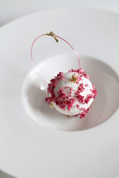 Christmas 2014; Spheric Eton Mess of Almond, Strawberry and Rhubarb by Natalie Eng