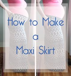 How to make a fold-over maxi skirt