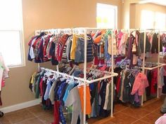 38 diy pvc pipe clothing rack, 25 best ideas about pipe clothes rack Pipe Clothes Rack, Clothes Drying Racks, Hanging Clothes, Clothing Racks, Clothes Storage, Diy Clothes Rack For Yard Sale, Clothing Displays, Clothing Stores, Clothes Hanger