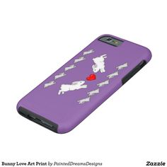 Bunny Love Art Print Tough iPhone 6 Case