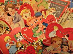 #Vintage Valentines http://adoreyourplace.com/2013/01/19/i-heart-vintage-valentines/