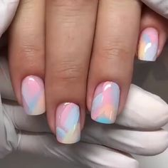 Pin on Nageldesign - Nail Art - Nagellack - Nail Polish - Nailart - Nails Fancy Nails Designs, Nail Art Designs Videos, Gel Nail Art Designs, Beach Nail Designs, Square Nail Designs, Minimalist Nails, Short Nail Manicure, Nail Design For Short Nails, Funky Nails