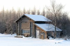 Winter walk around Selkie, North Karelia, Finland Winter Cabin, Winter Walk, Cozy Cabin, Cabana, Ideas De Cabina, Building A Small House, Dream Properties, Finland, Architecture