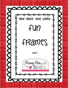 Fun Frames Freebie Doodle Borders, Page Borders, Templates Printable Free, Printable Labels, Printables, Classroom Clipart, Classroom Ideas, Page Frames, Boarders And Frames