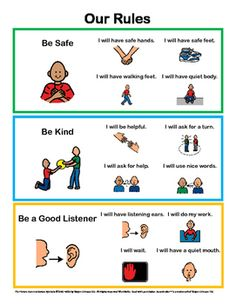 Behavior Rules Posters With Visuals – Social Skills – Self-help Skills Behavior Rules Posters With Visuals – Social Skills – Self Social Stories Autism, Social Skills Autism, Social Emotional Learning, Classroom Rules, Classroom Behavior, Autism Classroom, Classroom Routines, Self Help Skills, Coping Skills