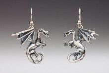 Fire Dragon Earrings