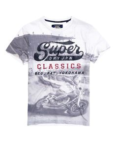 Mens - Photographic Classics T-shirt in Optic/ Black Photographic | Superdry