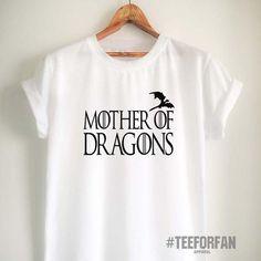 Game of Thrones T Shirt Mother of Dragons Shirt Daenerys Targaryen Khaleesi T  Shirt GoT Merchandise 52aac454a899