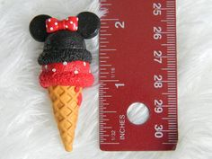 Minnie mouse clay charm. 2 inches.
